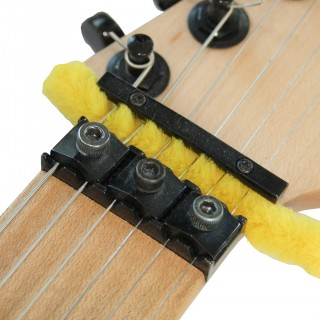 Cleaning the Locking nuts of a Guitar with a Pipe Cleaner