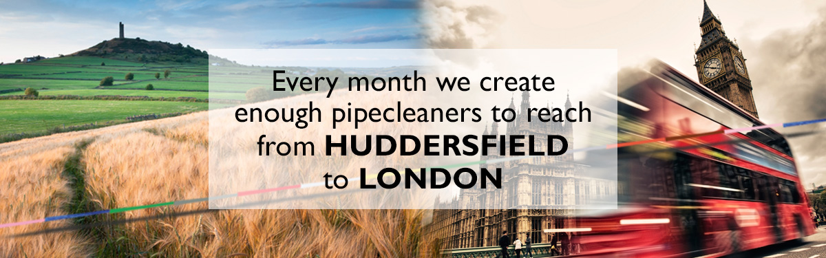 Huddersfield to London Every Month in Pipe Cleaners | Hewitt & Booth