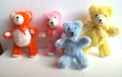 Teddies Group 2 orange pink blue pale yellow (2)