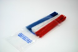 Red, White and Blue Pipe Cleaners