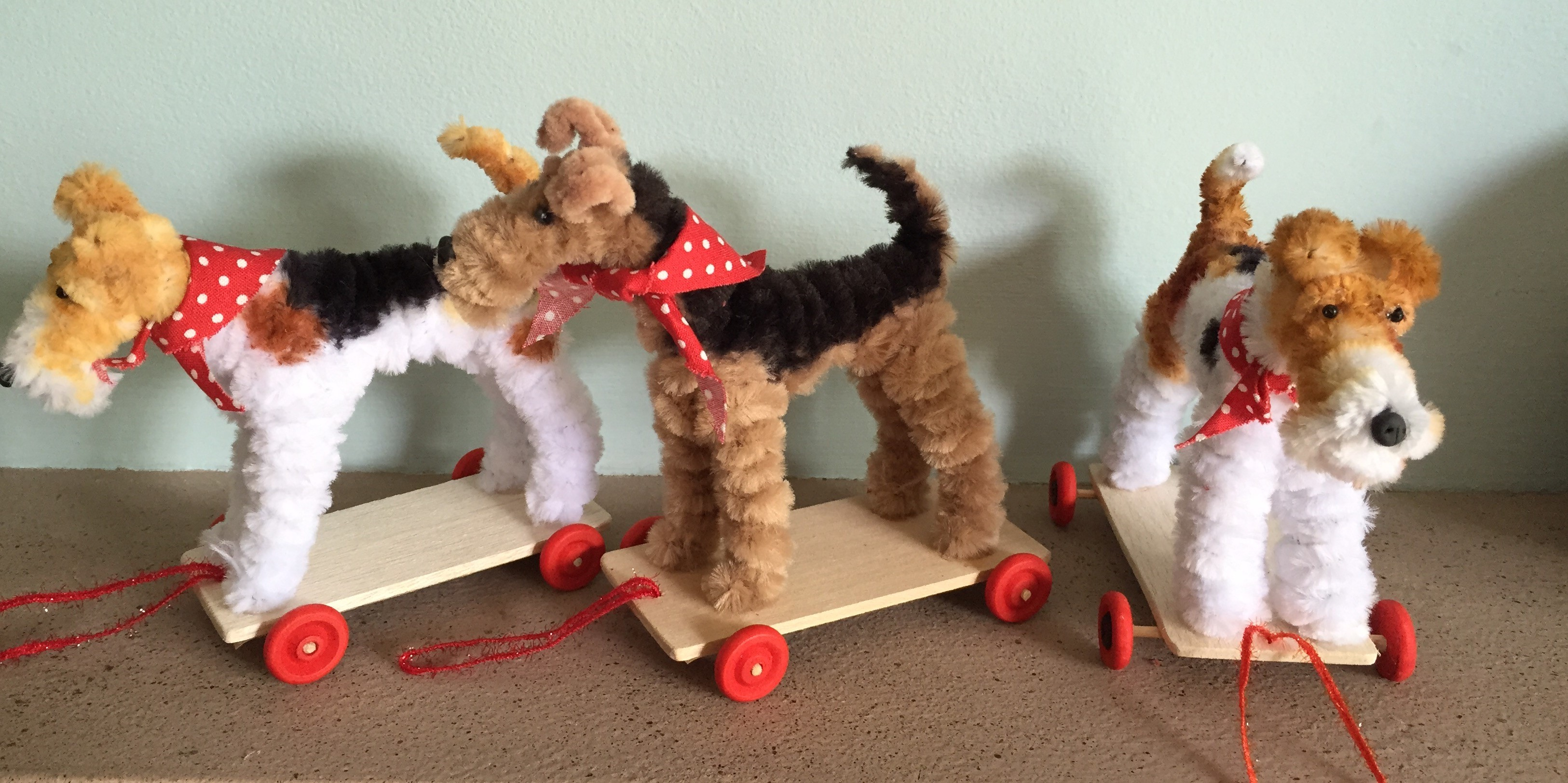how to make a dog out of pipe cleaners